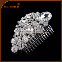 vintage style hair accessory, crystal fancy wedding hair combs