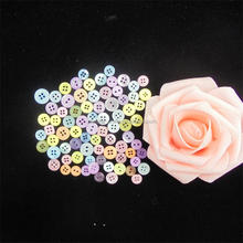 Wholesale Factory price colorful fancy plastic buttons for children clothing