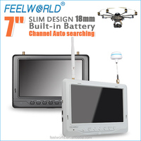 1.8cm thickness quadcopter frames 7 inch full hd monitor build in dual receiver