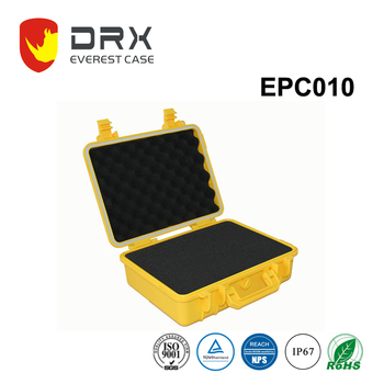 Everest Hard Plastic Watertight Case with foam for Electronics, Equipment, Cameras, Tools, Drones, and