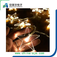 NEW ARRIVER !!! 1M 10 LED Lucky Star Shaped String Lights Christmas Garland patio Window Decoration