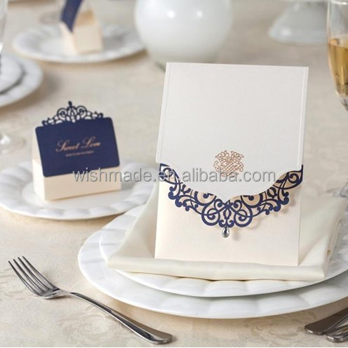 2017 luxury cheap wedding invitations card