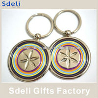 hot sale promotion engraved metal keychain in custom shape