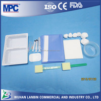 CE ISO approved disposable medical OEM sterile cheap price customizable anesthesia tray