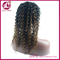 Factory Supply Full Lace Wig With Baby Hair,Wholesale Chinese Virgin Hair Full Lace Wig ombre two tone blonde color