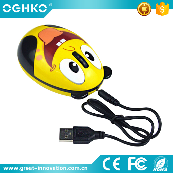 lovely usb receiver wireless optical mouse for promotion gift