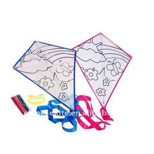 DIY children drawing teaching diamond kite