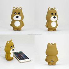 PVC customized cartoon mobile phone power bank ,portable mobile charger handy power bank for mobile phone