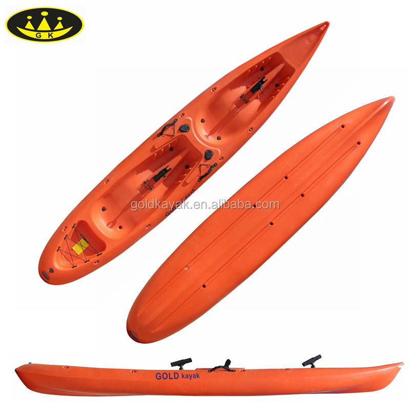 2 person sit on top fishing kajak plastic boat double for Double fishing kayak