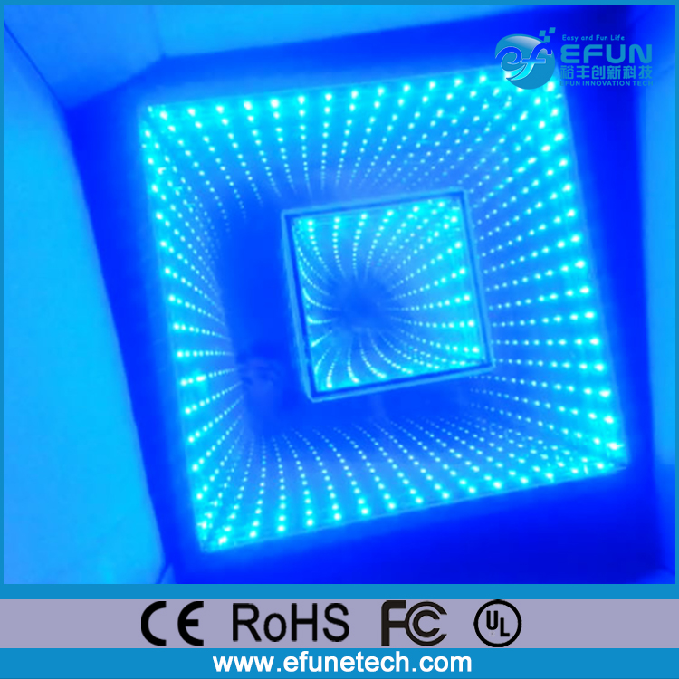 remote controlled 3d effect tempered glass floor panels,led dance floor tile