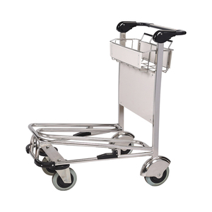 Stainless Steel Airport Luggage Trolley Car With Auto Brake