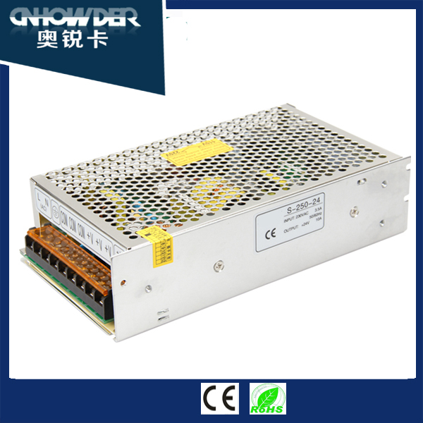 Factory Direct 250w Output protections 5v 45a 220v ac to dc converter power supply,120vac to 24vdc power supply