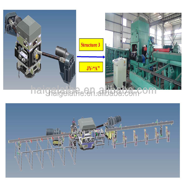HAIGE High- efficiency copper pipe straightening machine straightener flattener