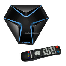 Magicsee Iron TV Box Amlogic S905X Android 7.1 Set Top BOX Quad Core 2.4GHz WiFi HD 2.0 AV LAN TF Card Slot smart tv box