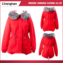 Chonghan Latest Fashion Children Girls Wear Red Winter Hooded Jackets