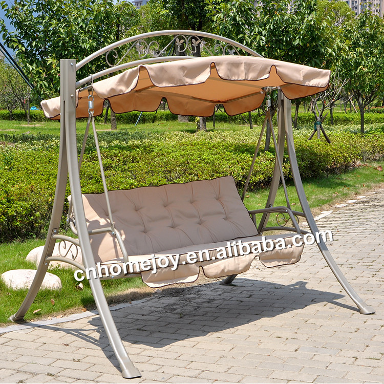 Deluxe 3 person garden swing chair with cushion