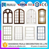 Modern house wrought iron window grill design