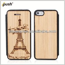 Factory Supply Popular for iphone5 wood grain holster for iphone5 decorative case