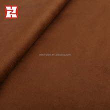 Double face suede airtight textured polyester, brown knit fabric 96% polyester 4% spandex