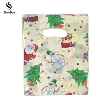 Christmas Reusable Pp Shopping Eco Handle Friendly Disposable Promotional Tote Plain Bags