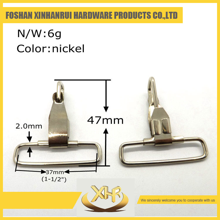 Wholesale high quality snap hook metal bag clasps inner diameter 37mm