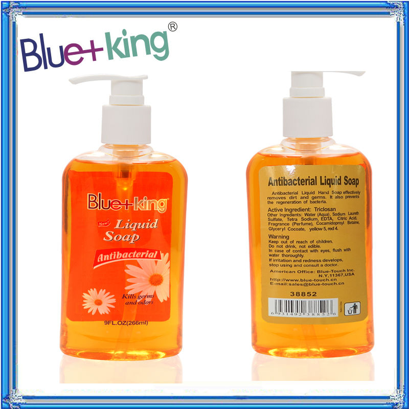 2014NEW Blue-King Best Antibacterial Hand washing Liquid Soaps with Decor Pump, 9OZ, (Case of 24)