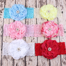 Girl Fashion Hair Accessories Baby Kids Elastic Lace Headband Baby Girls Lace Flower Headbands