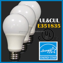 9w led bulb UL certified 360 degree led light bulb & 277v a19 e26 led bulb