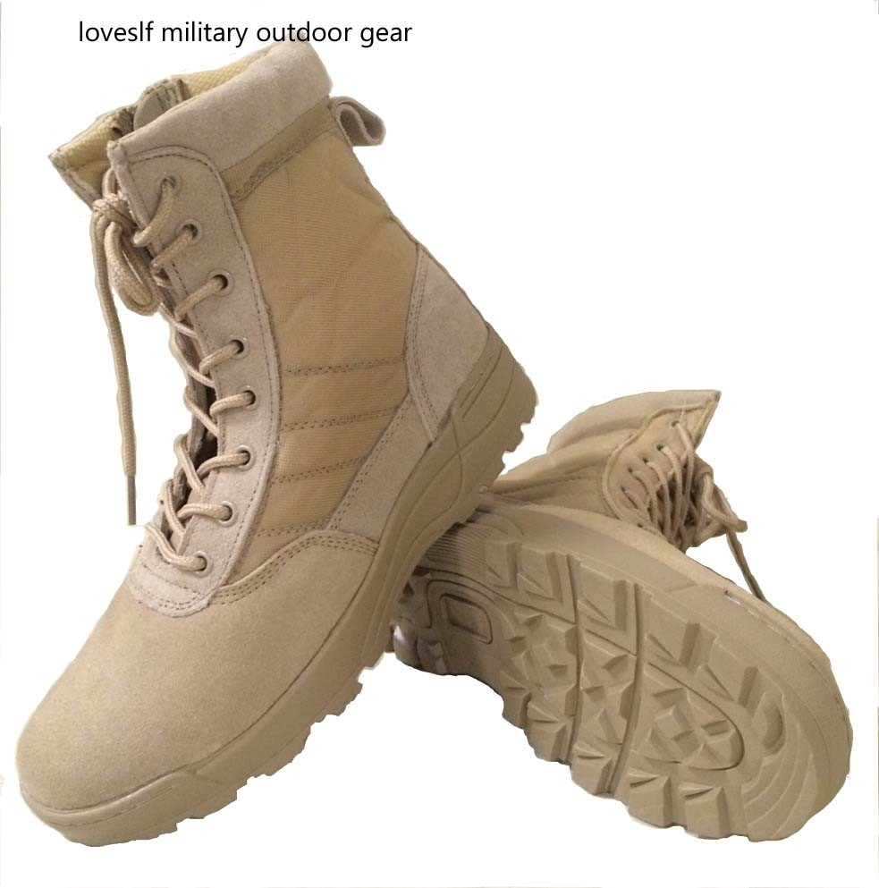 loveslf military winter safety man boots outdoor hiking climbing boots