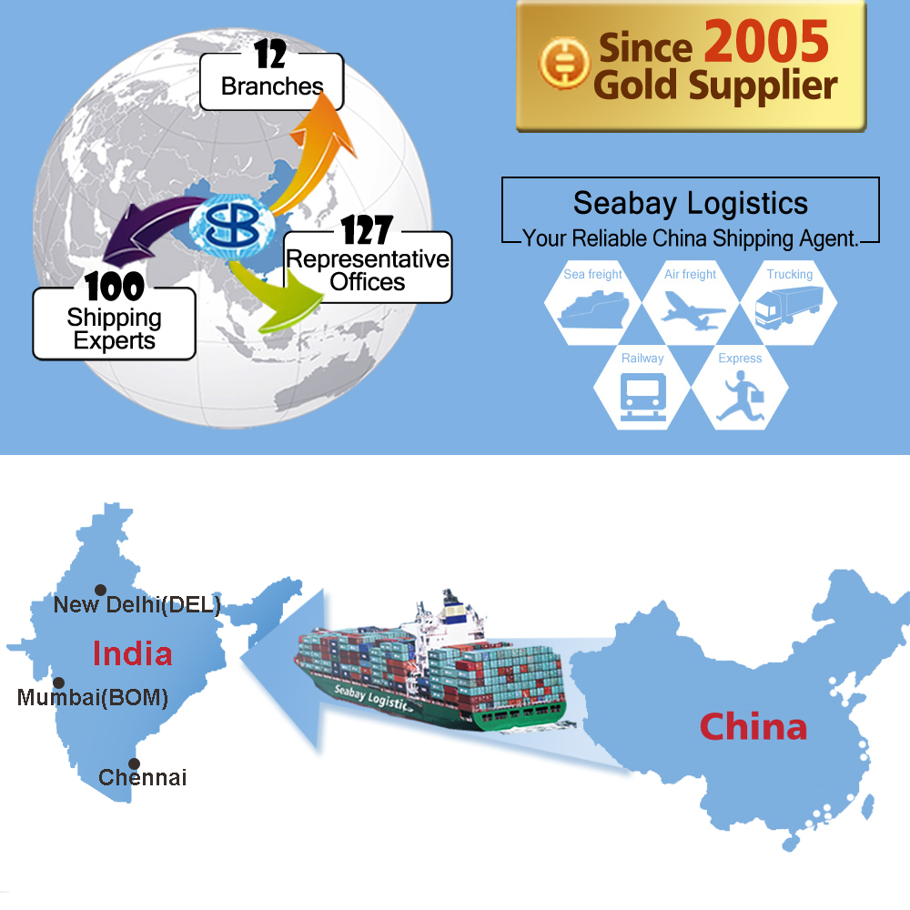Cheap ocean sea freight forwarder container cargo shipping charges from china to india