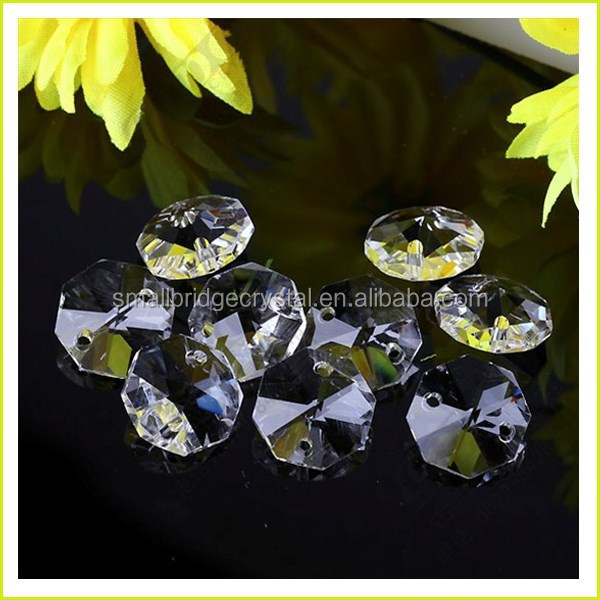Wholesale DIY Curtain Chandelier parts crystal Octagonal beads DSQ-0020