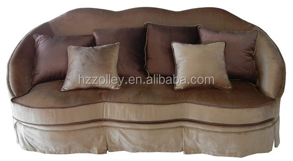 French Style Antique wood varved ashley furniture reclining sofa