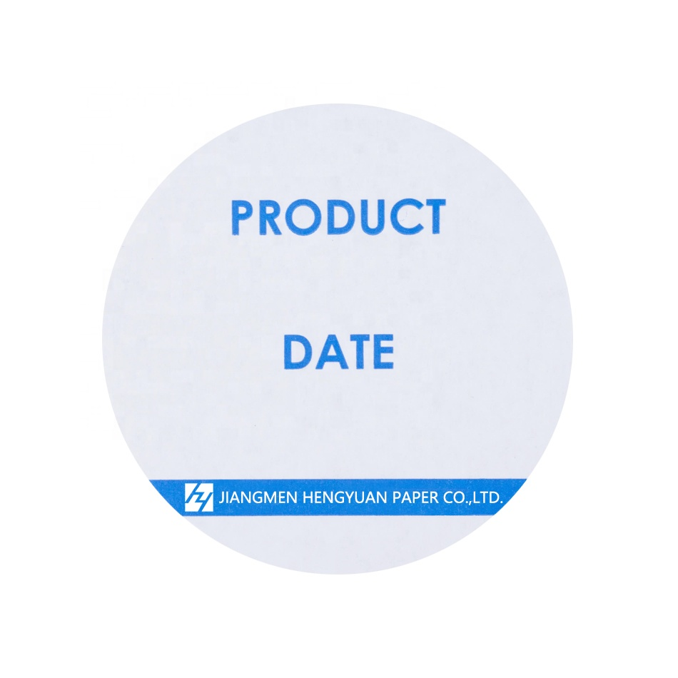 "3"" Round Removable Label 500/Roll For Food Product Handwritten <strong>Date</strong>"