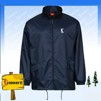 JHDM-3715-1 men's cheap polyester rain jacket branded