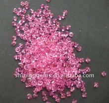 fancy round shape pink cz stone