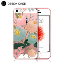 custom print back cover for iphone 5s case, transparent clear hard case for iphone 5 5s SE design case