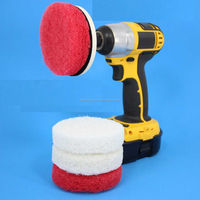 electric drill bsae scrub pad with Magic Sticker sponge