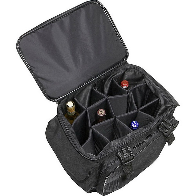 OEM outdoor picnic waterproof insulated wine cooler bag on wheels China suppliers