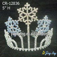 blue snowflake tiara for Christmas pageant holiday crown