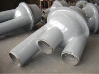 Casting steel joint to steel construction