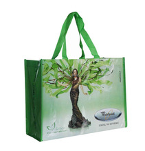 Fashion easy to carry BOPP laminated custom logo non woven shopping bag