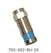 F Connector for RG6 Quad - Blue