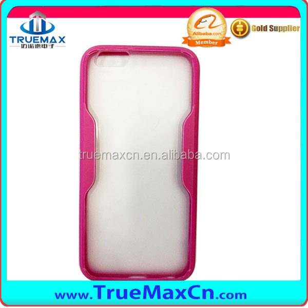 New!! Slim Ultra Thin Colorful Soft PC+TPU Case For iphone 6 Plus 5.5 inch TPU Phone Back Cover