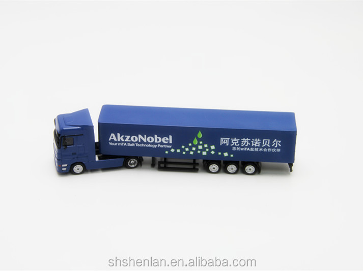 Die cast miniature truck toy custom made, 7.87 inches long, promotional gifts.