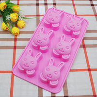 Food grade Rabbit Shape Chocolate Silicone Mold/Baking Cake Decoration