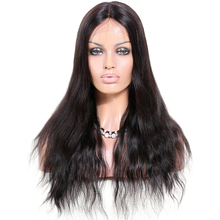 Premier 18inch Middle Part Unprocessed Indian Remy Hair Glueless Silk Top Lace Front Wig