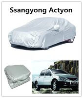folding car covers sun shade car body kit inflatable hail waterproof car cover For Ssangyong Actyon