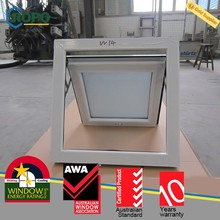 PVC double glass energy efficient black window, excellent weather sealing and noise reduction
