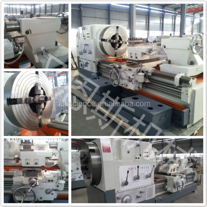 Horizontal gap bed lathe machine or lathe bed Q350 With CE