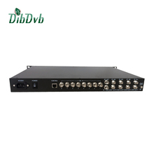 Small digital cable tv headend system_ 8 asi/128 ip to rf dvb-c converter with 4 QAM modulation,audio video multiplexer/scramble